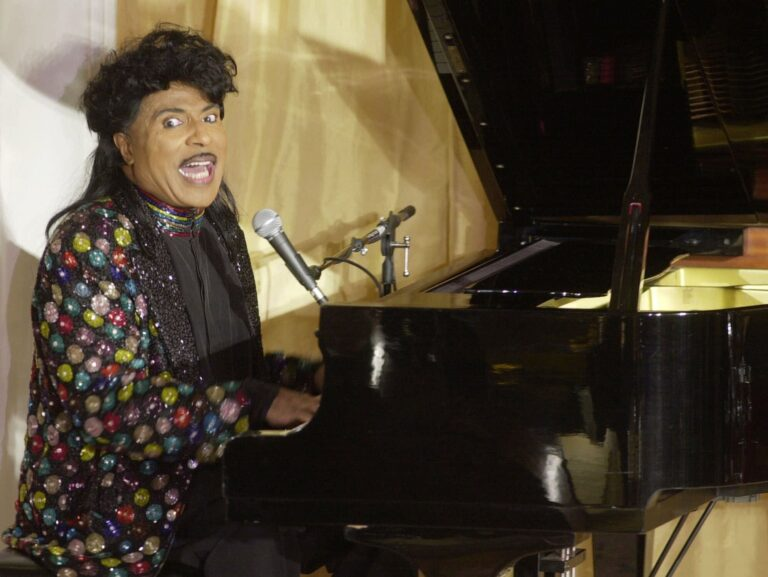 In this July 22, 2001 file photo, Little Richard performs at the 93rd birthday and 88th year in show business gala celebration for Milton Berle, in Beverly Hills, Calif. (AP Photo/John Hayes)