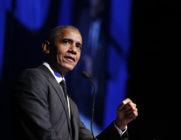 President Barack Obama accepts the Robert F. Kennedy Human Rights Ripple of Hope Award