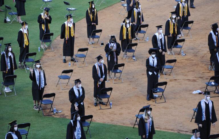 Socially distant graduation amid coronavirus pandemic