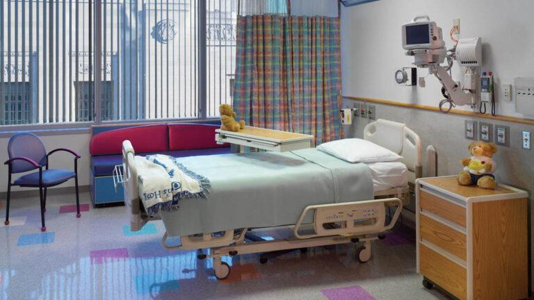 A patient room at CHOP