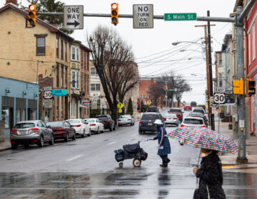 Chambersburg, Pa. which has seen a spike in COVID-19 cases in recent weeks, is in a county where state lawmakers are pushing for a faster reopening of the economy. (Jeffrey Stockbridge for Keystone Crossroads)