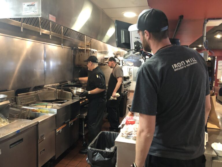 Restaurants such as Iron Hill Brewery in Wilmington can start serving in-house customers on June 1.  (Cris Barrish/WHYY)