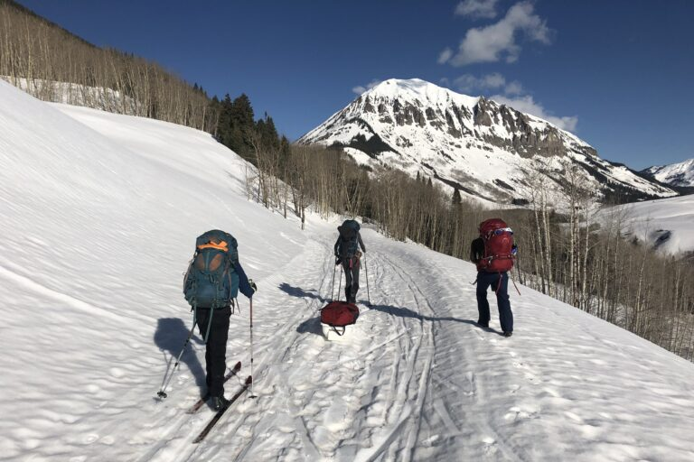 For the past 17 years, Dan Blumstein and his research team have skied into the Crested Butte Mountains of Colorado to conduct their annual scientific observations on yellow-bellied marmots. In 2020, the coronavirus is threatening to shut down this research and other types of field research throughout the world. (Image courtesy of Gina Johnson)