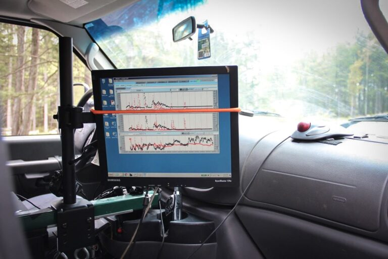 Scientists from Carnegie Mellon use mobile labs to detect methane leaks from the natural gas industry. (Reid R. Frazier/StateImpact Pennsylvania)