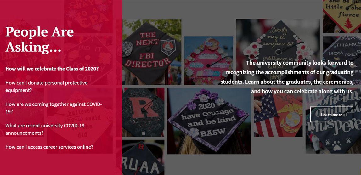 Rutgers University coronavirus response