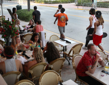 People dine out amid the coronavirus pandemic