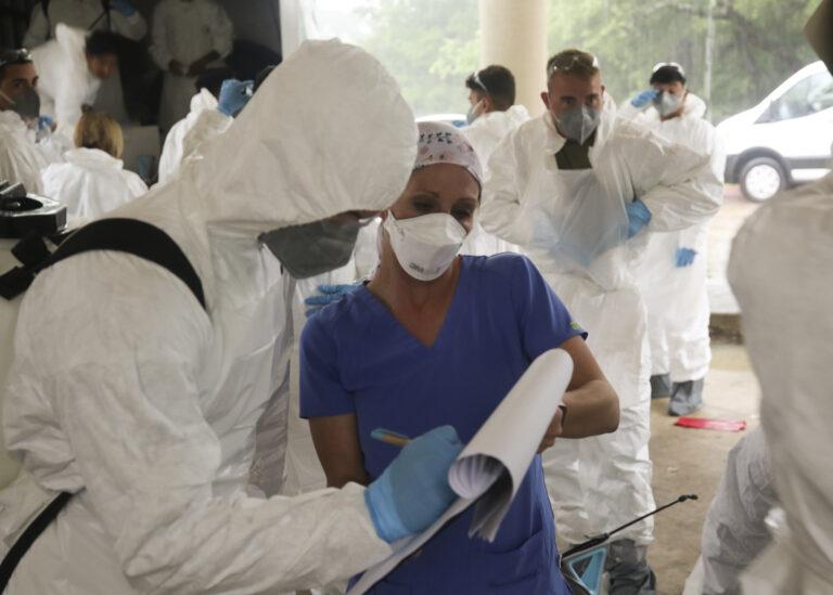 National Guard soldiers help with coronavirus response