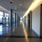 The New Castle County Courthouse in Wilmington has been largely empty since late March. (Cris Barrish/WHYY)