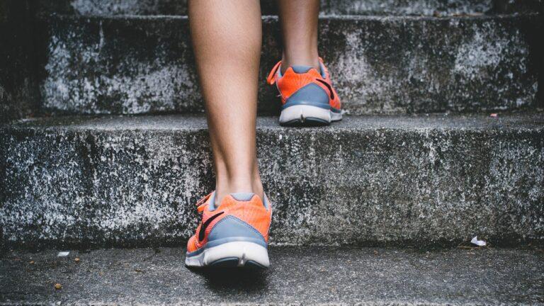 A runner exercises outside.