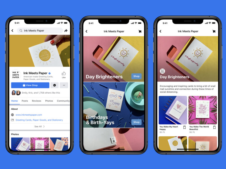 Facebook hopes to make commerce a bigger part of its operation by letting businesses set up storefronts in its apps. (Facebook)