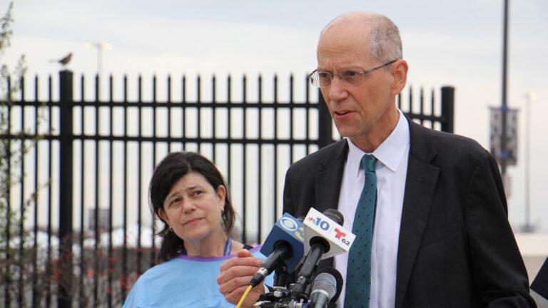 Philadelphia Health Commissioner Thomas Farley speaks to reporters