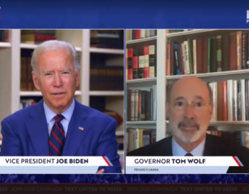 Former Vice President Joe Biden and Pennsylvania Gov. Tom Wolf