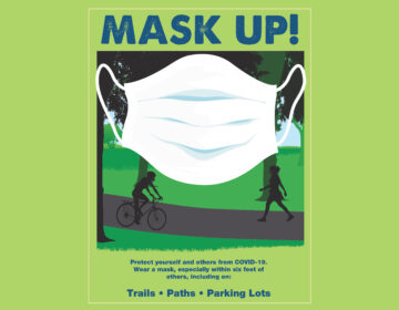"A poster for New Jersey's ""Mask Up!"" campaign (Image courtesy of the New Jersey Department of Environmental Protection)"