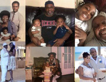 Family photos show Michael Hill through the years from young father to grandfather. (Courtesy of Whitney Samuels)