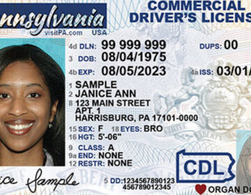 A REAL ID driver's license sample for Pennsylvania. (PennDOT)