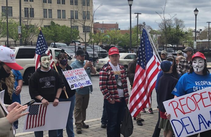 Reopen Delaware protest