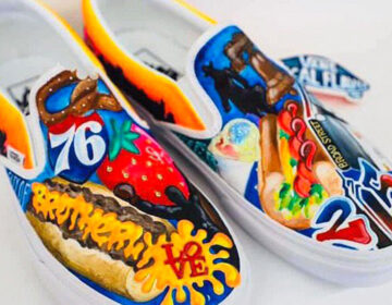 The sneaker design submitted by Strawberry Mansion High School (Vans Custom Culture)