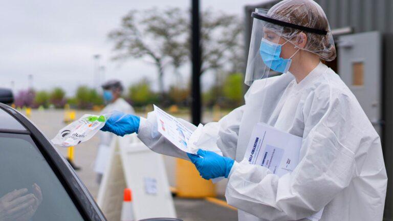 Walmart coronavirus drive-thru testing