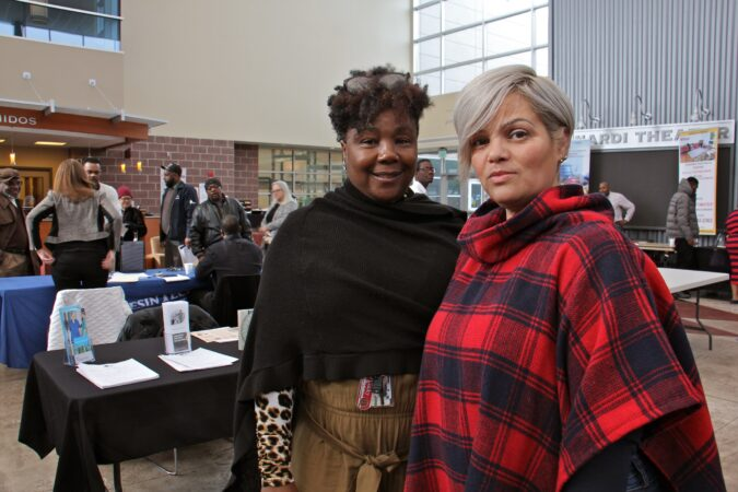 Camden Jobs Plus representatives Dwana White and Judith Garcia