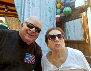 John and Catherine Stagliano, both 82., pose for a photo during a trip to Key West over the Thanksgiving holiday.  Both were treated for COVID-19 at home in Exton, Pa. (Provided by John Stagliano)
