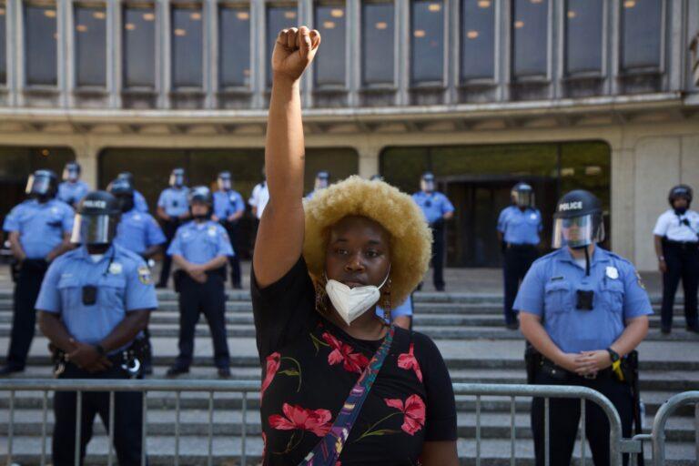 Protest organizer Faith Williams