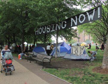 Encampment on Ben Franklin Parkway