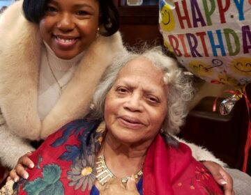 ida Robinson lived most of her life in Philadelphia, but kept her southern roots and was renowned for her cooking. She is pictured with her granddaughter, Diamond Princess Franklin, at her 84th birthday celebration.(Courtesy of Diamond Franklin)