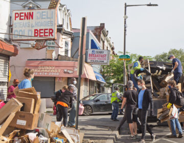 Cleanup volunteers in West Philadelphia