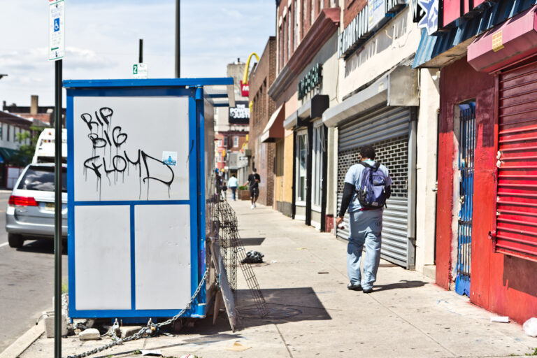 52nd Street in West Philadelphia was hit with both pandemic closures and looting. (Kimberly Paynter/WHYY)