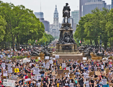 Protesters take over the Benjamin Franklin Parkway