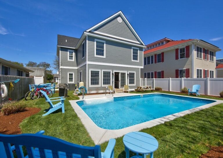 Rental homes with a private pool like this one in Rehoboth Beach are especially popular with vacationers who've been flooding realty offices with phone calls now that the state's ban on short-term rentals has expired. (courtesy Seachange Vacation Rentals)