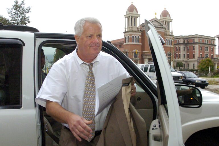 In this Sept. 23, 2011, file photo, former Judge Michael Conahan arrives at the federal courthouse in Scranton, Pa. (Mark Moran/The Citizens' Voice via AP, File)