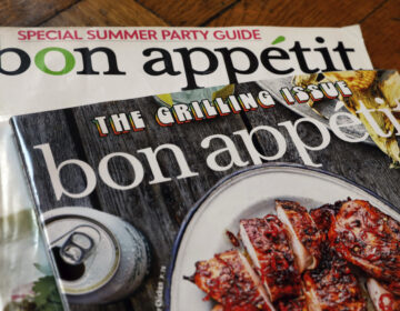Two covers of Bon Appetit magazine