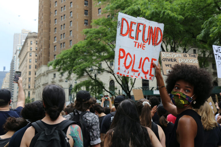 Protesters march against police brutality