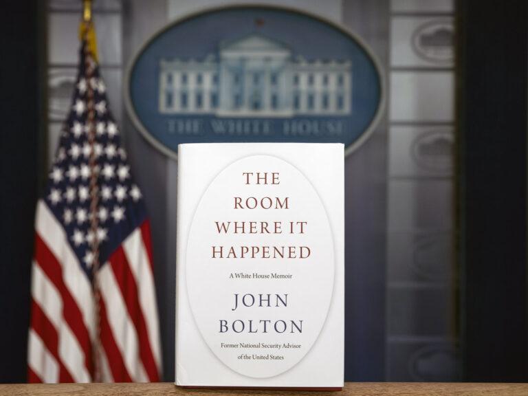 John Bolton's book, The Room Where It Happened