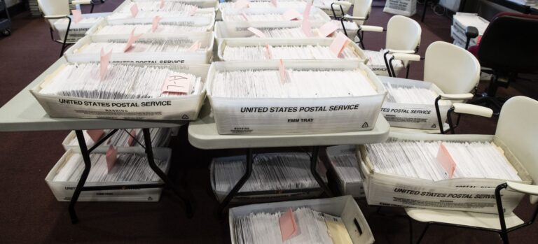 Processed mail-in ballots
