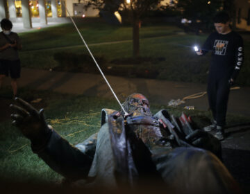 Statue of Confederate general toppled, set on fire