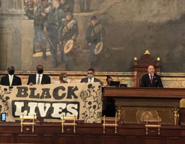 Members of the Pennsylvania Legislative Black Caucus took control of the State House today to demand action on a suite of police reform bills. (Rep. Jordan A. Harris/Twitter)