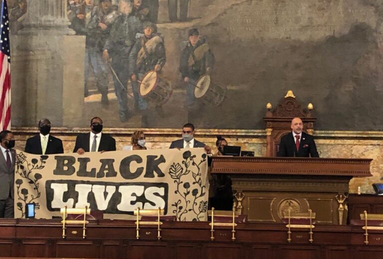 Members of the Pennsylvania Legislative Black Caucus took control of the State House in June 2020 to demand action on a suite of police reform bills. (Rep. Jordan A. Harris/Twitter)