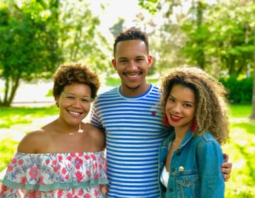 Christopher Golson (center) and Jessica Golson (right) with their cousin Gillian Golson. The Golsons have helped circulate a petition to demand change at Philly area private schools. (Picture courtesy of Golson family.)