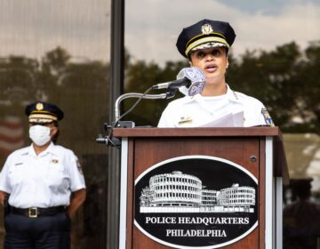 Philadelphia Police Commissioner Danielle Outlaw apologized for the use of tear gas on peaceful protesters on I-676. (Kimberly Paynter/WHYY)