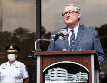 Philadelphia Mayor Kenney speaks at a June press conference.