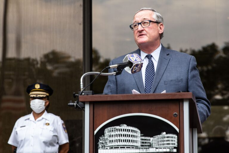 Philadelphia Mayor Kenney speaks at a June press conference.