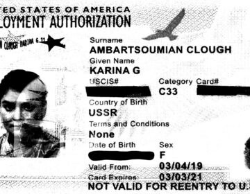 Karina Gareginovna Ambartsoumian-Clough's employment card. (Courtesy of Karina Gareginovna Ambartsoumian-Clough)