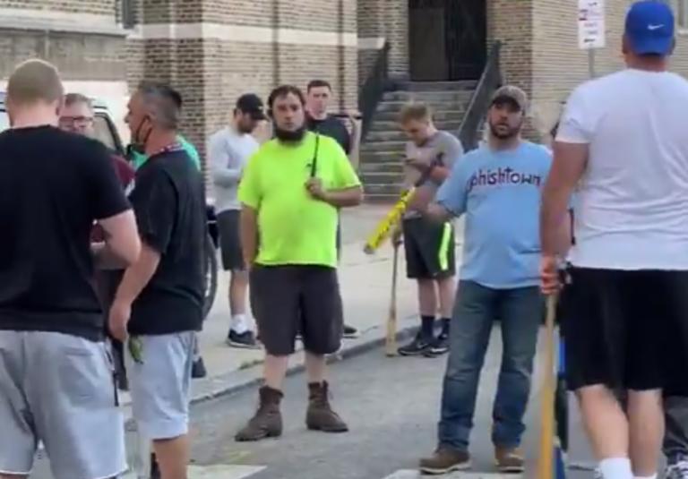 White bat-wielding men in Fishtown