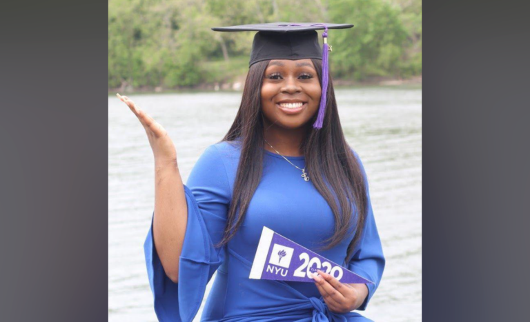 Deja Bond graduated from New York University with a master's degree in data science. Bond is the first African American woman get an advanced degree in data science from the university. — Courtesy of Deja Bond