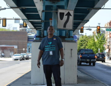 Stanley Dawson, a cook at a local nursing home is also a union representative with SEIU Pennsylvania. Dawson has been fighting for hazard pay and personal protective equipment for service workers like him at his facility since COVID-19 began. (Photo by Kerith Gabriel)