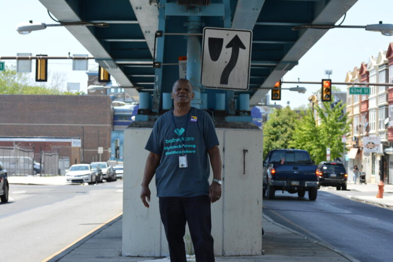 Stanley Dawson, a dietary aid at a local nursing home is also a union representative with SEIU Pennsylvania. Dawson has been fighting for hazard pay and personal protective equipment for service workers like him at his facility since COVID-19 began. (Photo by Kerith Gabriel)