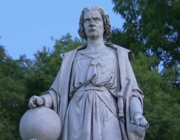 Christopher Columbus statue in South Philadelphia