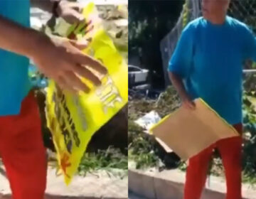 Stills from the video showing the courts supervisor ripping down signsINSTAGRAM / @GOSSIPOFTHECITY_